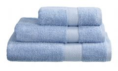 Sky Blue 100% Cotton Turkish Ringspun Towel 500 Gsm